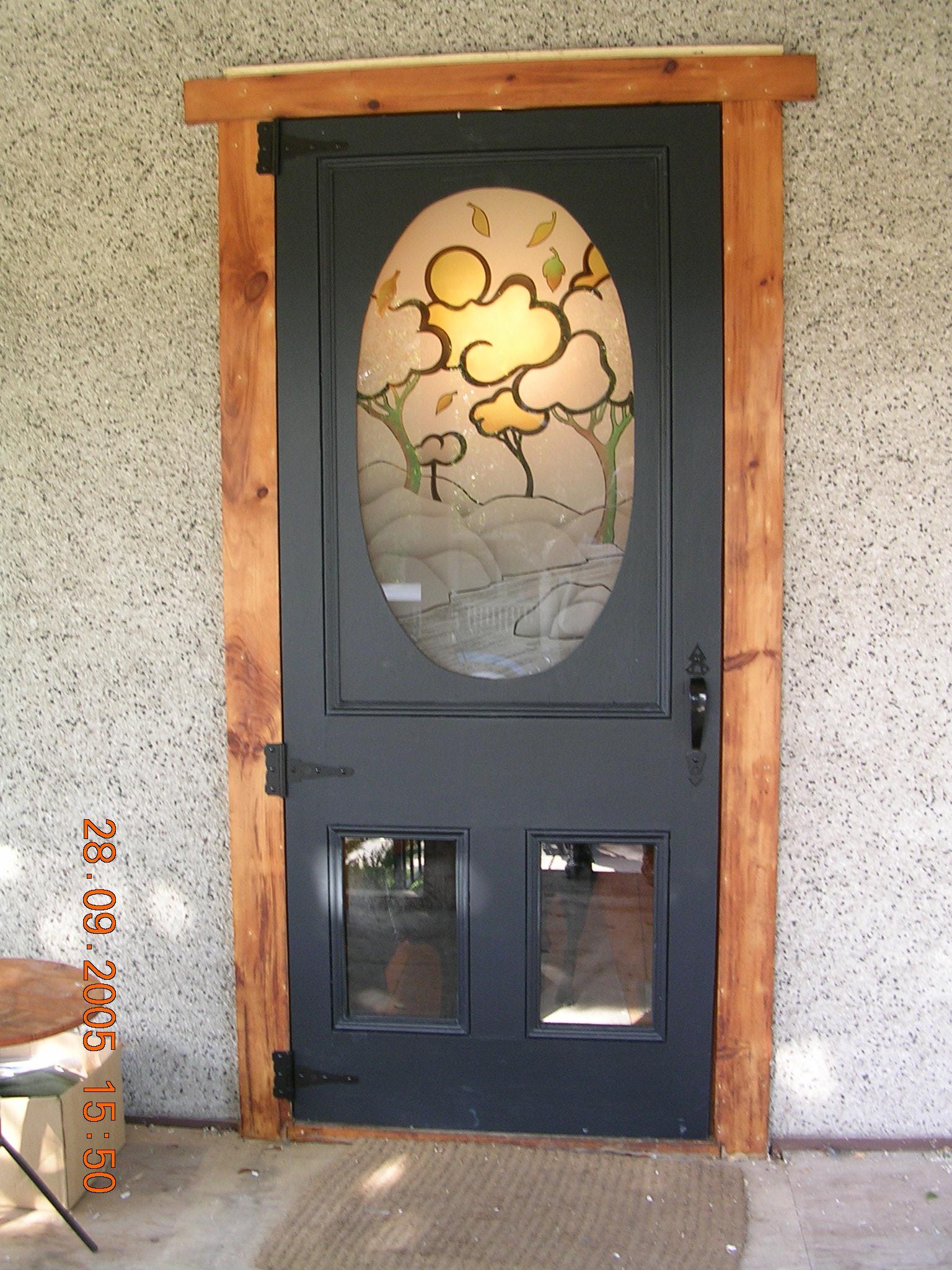 Storm Door Glass Insert Blue Sky Glass Works Custom Glass Shower