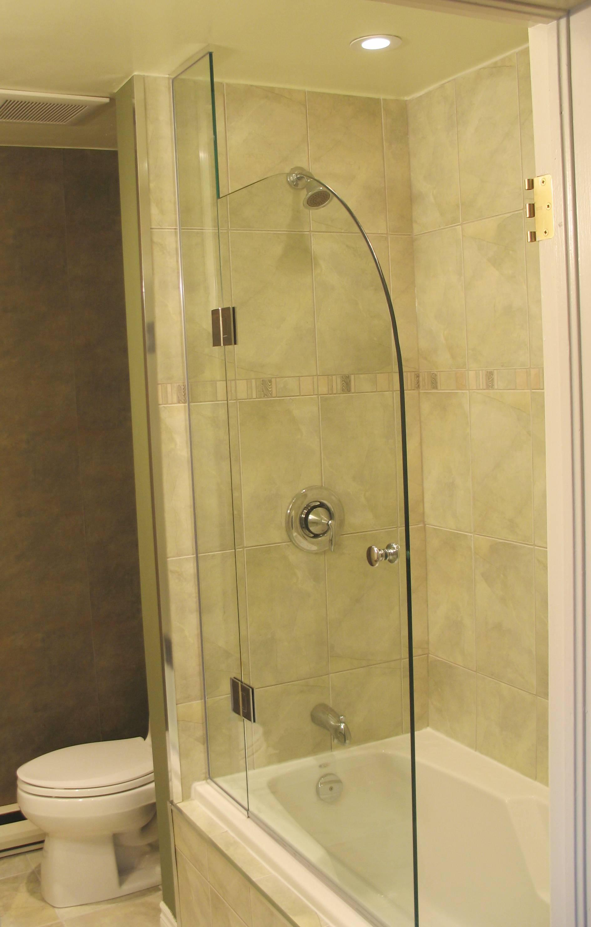 Tub Shower Blue Sky Glass Works Custom Glass Shower